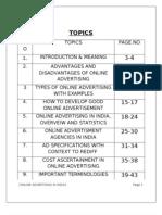 Online Advertising word document