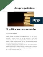 Día Del Libro Para Periodistas