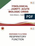 Physioloical Integrity Acute Biologic Crisis