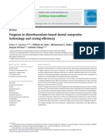 Progress in Dimethacrylate-based Dental Composite Technology and Curing Efficiency
