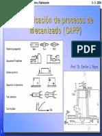 Planificacion de Procesos de Mecanizado