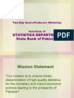 Functions of Statistics Department State Bank of Pakistan