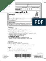 Edexcel IGCSE MATHEMATICS A Paper 3h June 2011