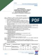 Metodologie Admitere Master FMI 2014