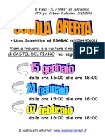A4 ScuolaAperta LICEO Scientifico