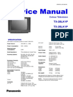 Panasonic TX-25lk1p TX-28lk1p Chassis z8