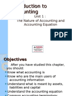 The Nature of Accounting and Accounting Equation L1