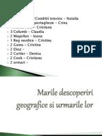 Marile Descoperiri Geografice Si Urmarile Lor