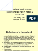 I. Household Sector as an Institutional Sector in National (1)