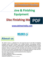 Disc Finishing Machine