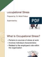 Occupational Stress