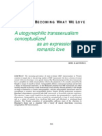 A Utogynephilic Transexualism Conceptualized as an Expression of Romantic Love