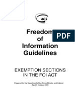 FOI Guidelines FOI Act Exemptions