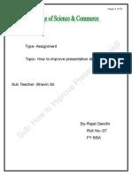 How to Improve Presentation Skill