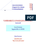 Esercizi compressibilità edometrica