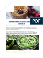 Alimentos Enérgicos Para Combatir El Cansancio
