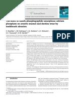 Ranjitkar Et Al. [2009] the Effect of Casein Phosphopeptide-Amorphous Calcium Phosphate on Erosive Enamel and Dentine Wear by Toothbrush Abrasion