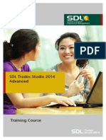 SDL Trados Studio 2014 Advanced - Workbook