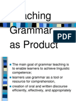 teaching of grammar