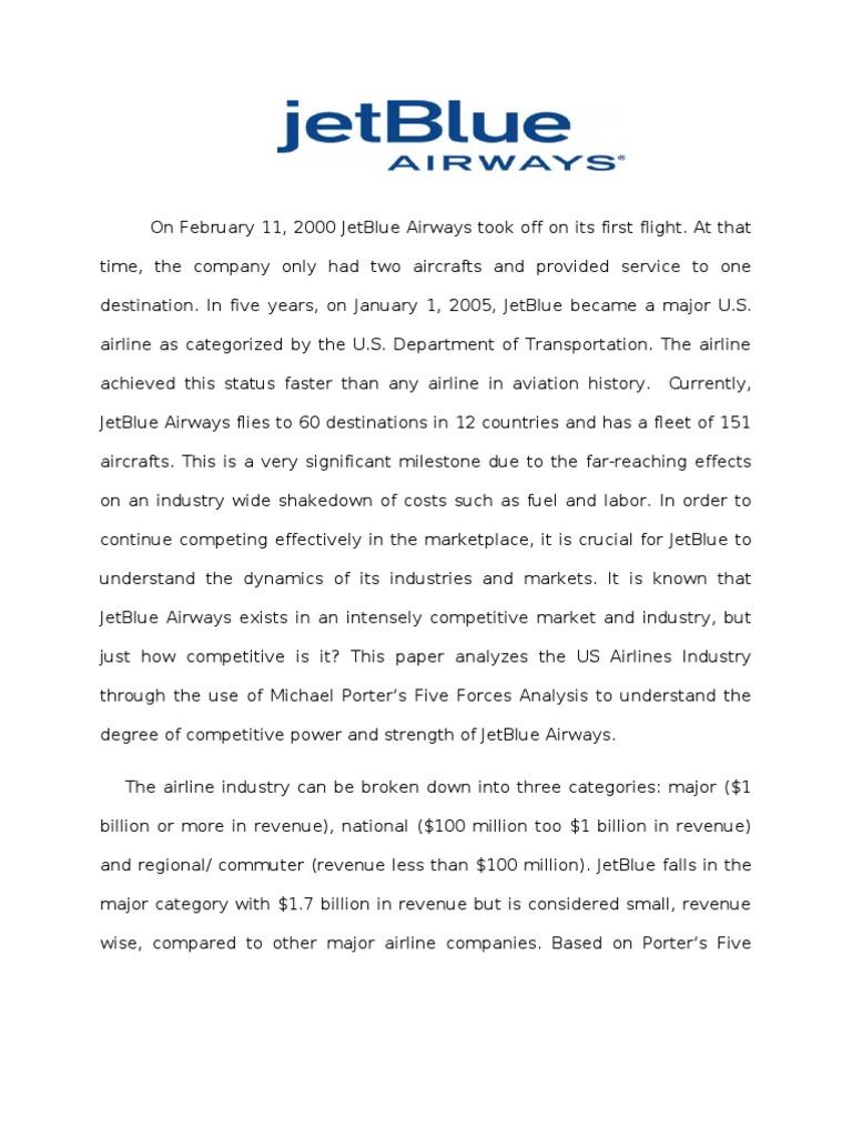 jetblue case study swot analysis