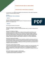 Constitucion Politica del Peru y el Tema Laboral