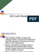 Bcg &Ge Models