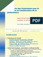 2005 - Rotary - La Thorie Des Contraintes Pour La La Mesure Et Lamlioration de La Performance