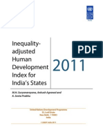 Inequality Adjusted Human Development Index for Indias State1