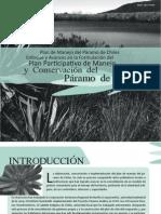 Plan de Manejo Del Paramo