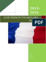 French GCSE AQA Vocabulary