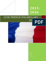 French GCSE AQA Vocabulary