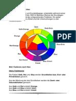 Der Farbkreis nach Itten