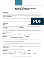 18 Rent Application