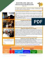 Boletín 4 Del Área de Pedagogía en Religión