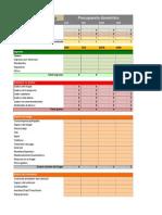 Presupuesto Domestico en Excel