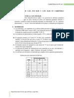 Especificaciones de Capa Sub Base y Capa Base en Carreteras Departamentales