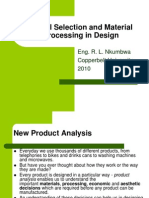 Lecture5 Materials Selection and Material Processing in Design