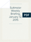 Suttmeier Weekly Briefing, January 12, 2015