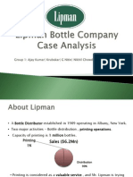 Lipman Bottle Company Case Analysis_Group 1