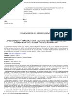 La Glotonería Sancionatoria Del Fisco Percib e Relación de Dependencia en Lugar de Relaci Ón Familiar