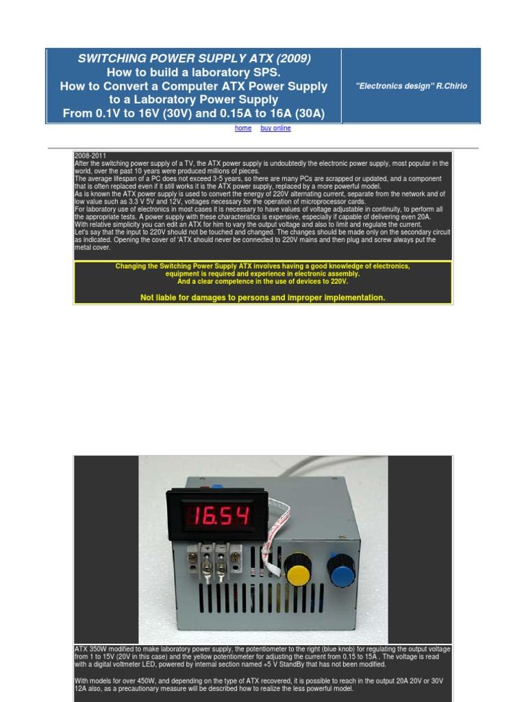 Switching Power Supply Atx (1)   Power Supply   Resistor