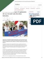 Jóvenes Advierten Que El Reglamento de Ley Juvenil Viola Derechos Laborales _ LaRepublica