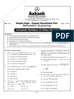 Mathematics Engg Practice Test Paper-1