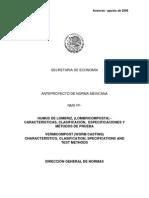 Agricultura Ecologica - Humus de Lombriz (Lombricomposta) - Anteproyecto de Norma Mexicana