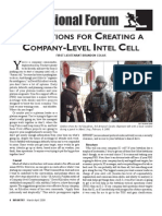 Company Intel Cell (Infantry Mag Article)