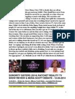Sorority Sisters (2014) Ratchet Reality TV Show Reiew - Mona Scott Debate - FuTurXTV & HHBMedia.com - Hiphobattle.com - 12-20-2014.pdf