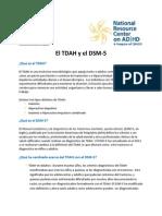 El TDAH y El DSM 5 Spanish Fact Sheet