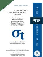 Color Harmonization in Car Manufacturing Processes