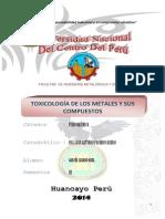 Informe Toxicologia de Los Metales