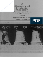 Glossary of Historic Masonry Deterioration 1984